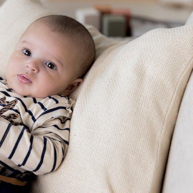 Dirkje meisjes baby set jurk met legging donkerblauw beige