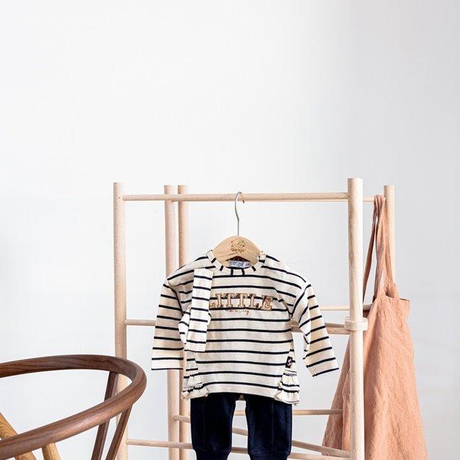 Dirkje Mädchen Baby Set Hose mit Shirt beige dunkelblau