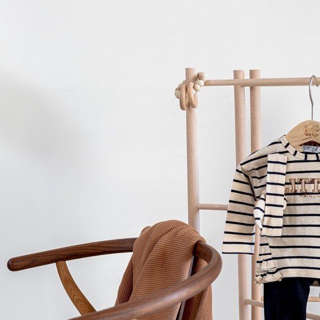 Dirkje meisjes baby set broek met shirt beige donkerblauw