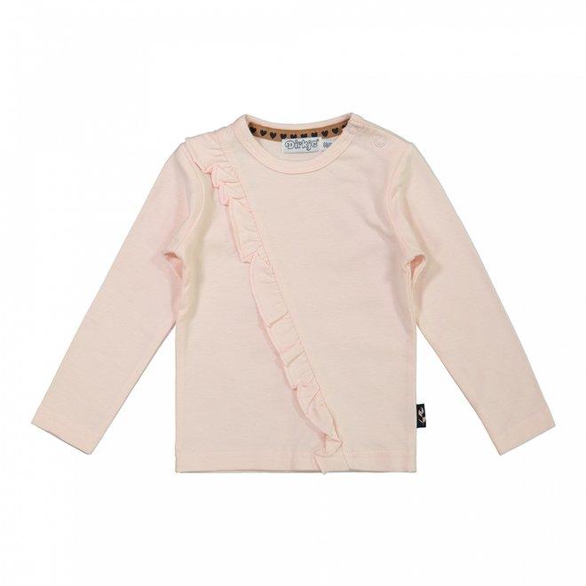 Dirkje meisjes shirt roze ruche