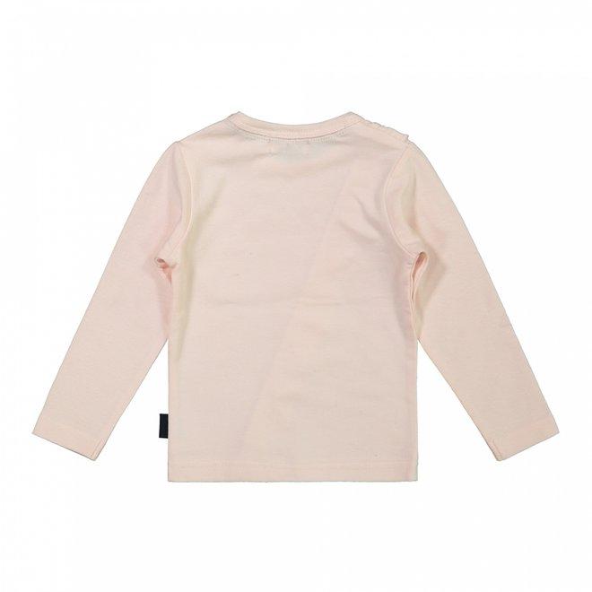 Dirkje girls shirt pink ruffle