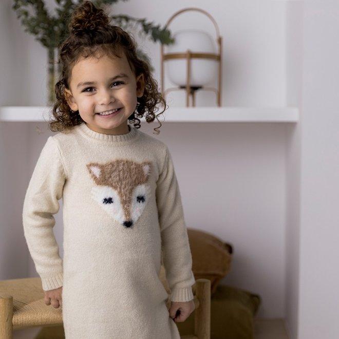 Dirkje girls dress beige fox