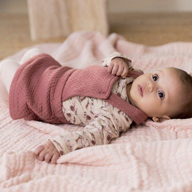 Dirkje girls baby set shirt skirt and legging old pink