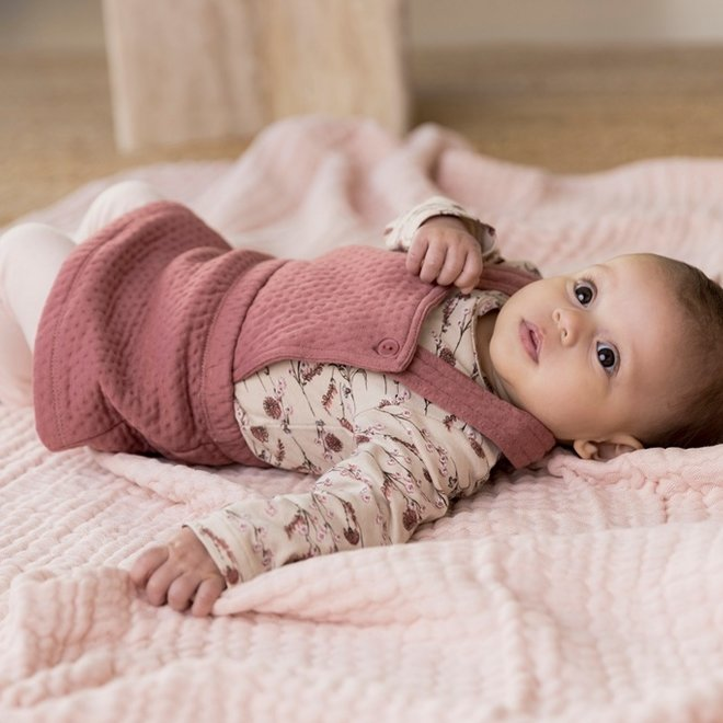 Dirkje meisjes baby set shirt rok en legging  oudroze