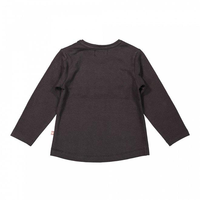 Dirkje girls shirt dark grey