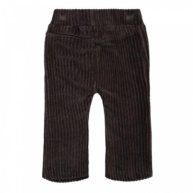 Dirkje girls rib trousers flared dark grey