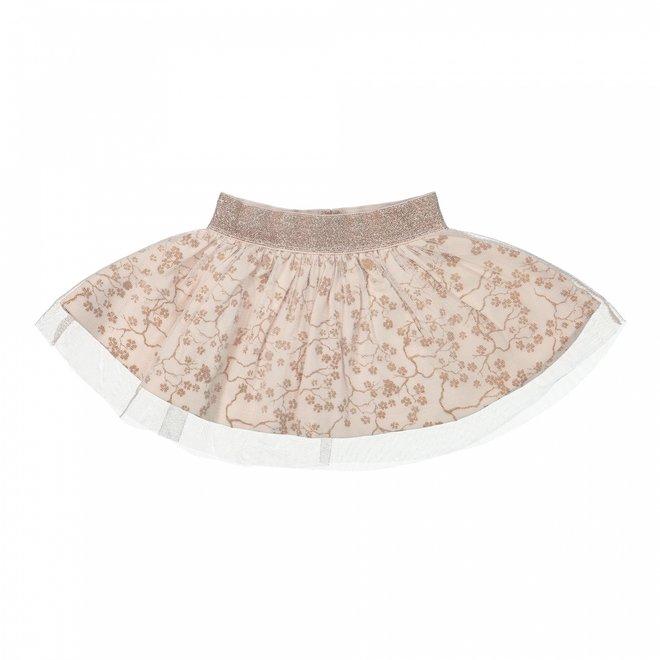 Dirkje girls tulle skirt light pink with flowers