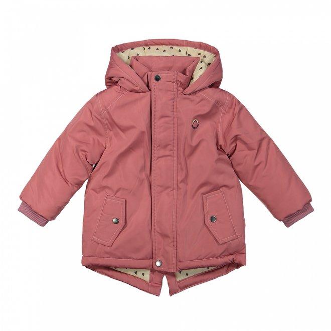 Dirkje girls parka winter coat old pink with hood