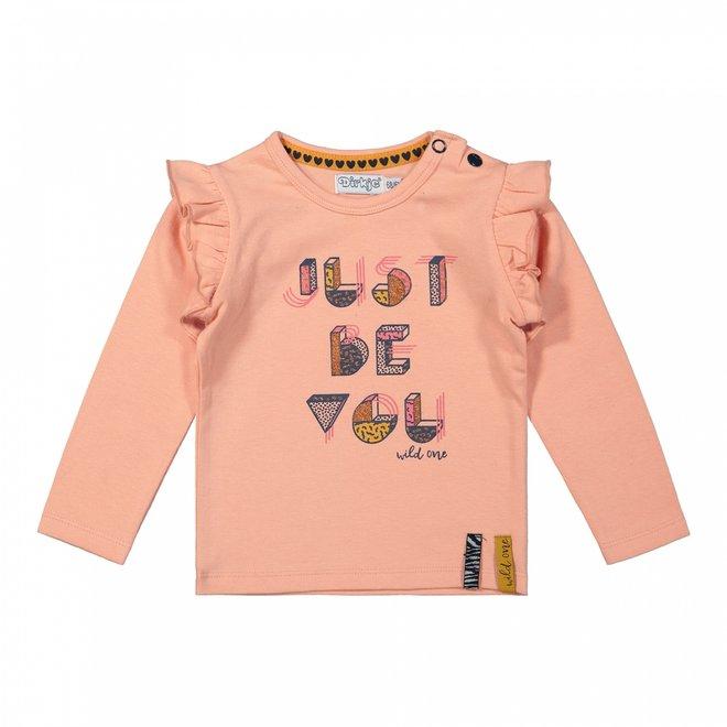Dirkje girls shirt pink ruffles