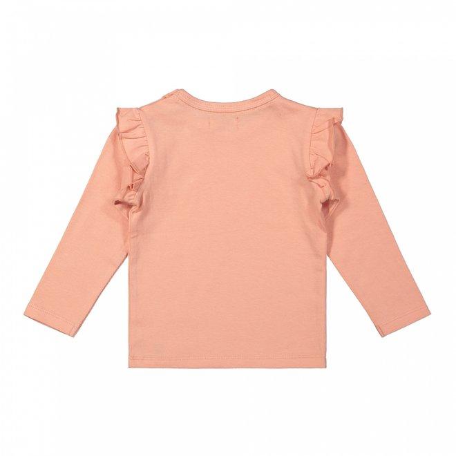 Dirkje Mädchen Shirt rosa Rüschen