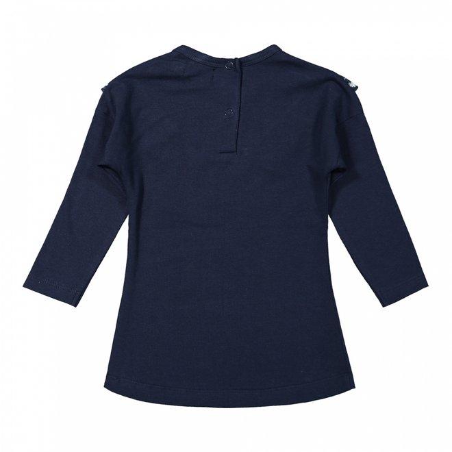 Dirkje meisjes jurk donkerblauw