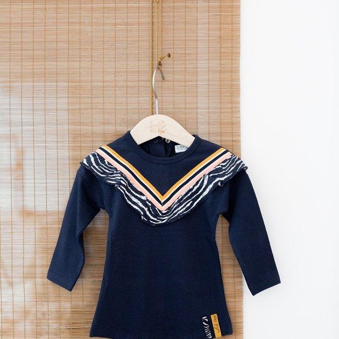 Dirkje Mädchen Kleid dunkelblau
