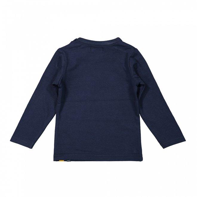 Dirkje Mädchen Shirt dunkelblau wild ein Pailletten