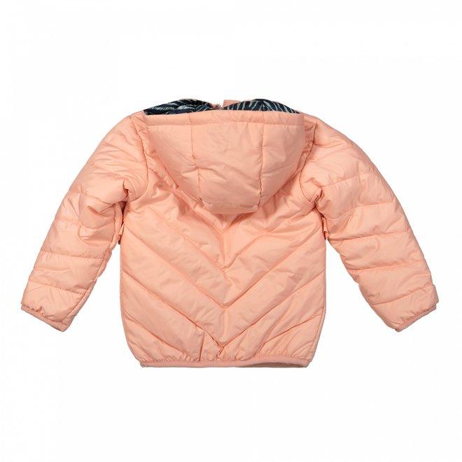 Dirkje girls winter jacket light pink with hood