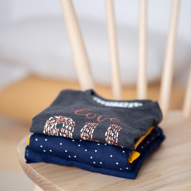 Dirkje Mädchen Shirt dunkelgrau mit Rüschen