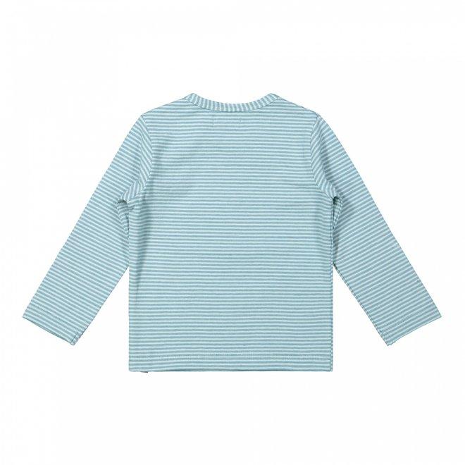 Dirkje boys shirt light blue stripes planet