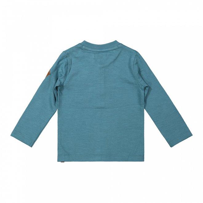 Dirkje boys shirt petrol blue buttons