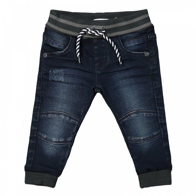 Dirkje jongens jeans donkerblauw met boord