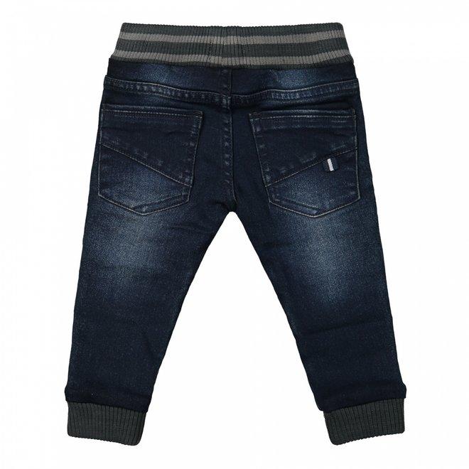 Dirkje boys jeans dark blue with board