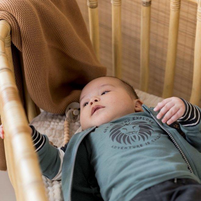 Dirkje Jungen Baby Set Strickjacke Shirt Hose Salbei grau grün