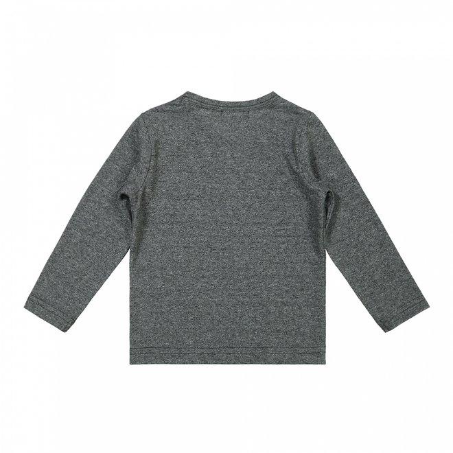 Dirkje boys shirt dark grey melee