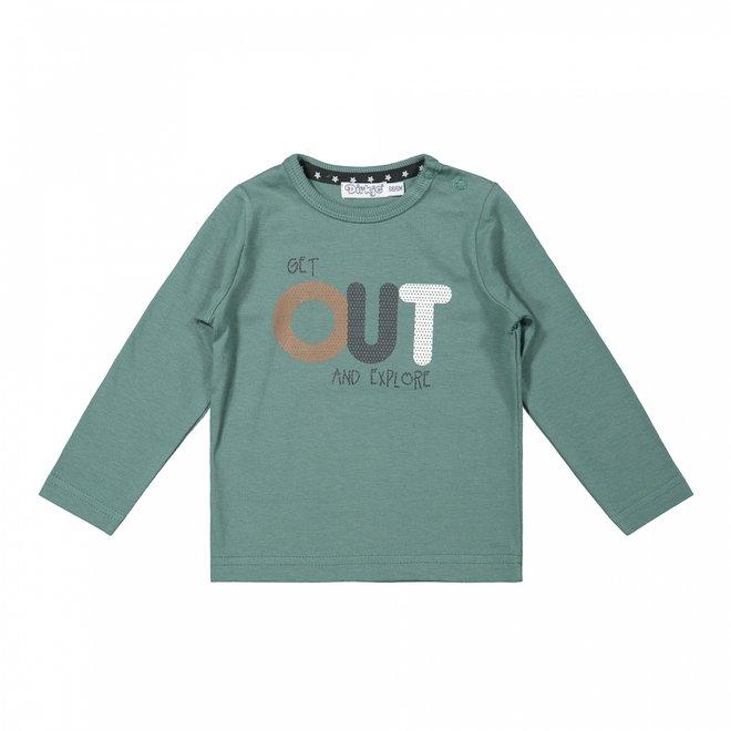 Dirkje jongens shirt sage grijsgroen