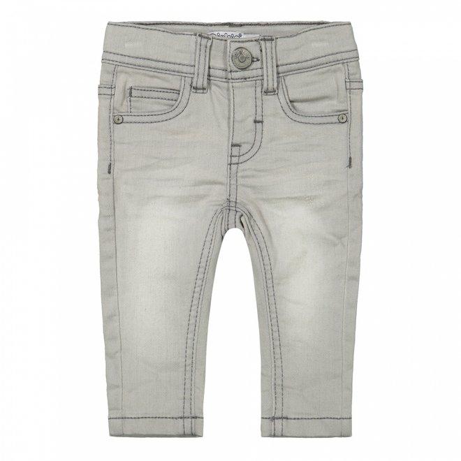 Dirkje boys knitted jeans light grey