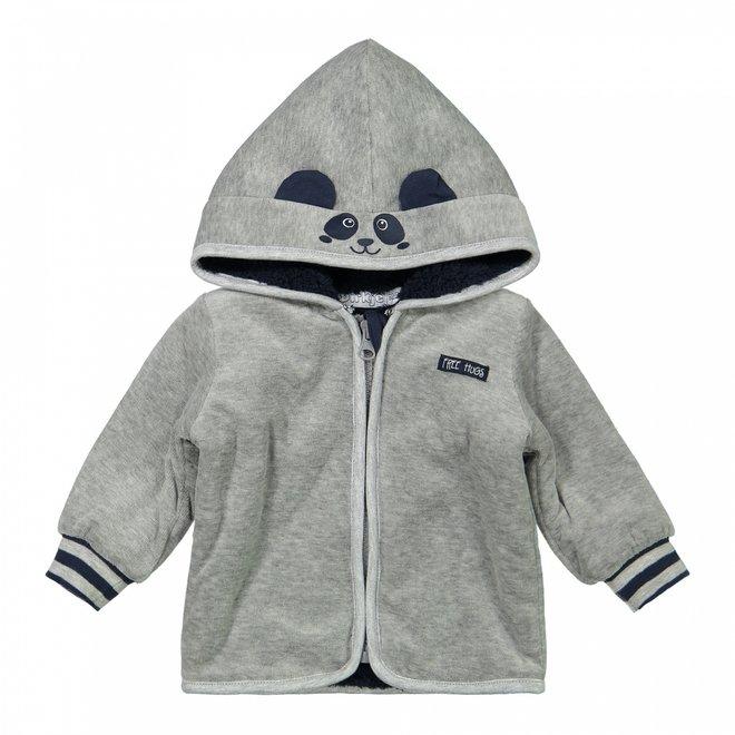 Dirkje boys baby jacket with hood light grey