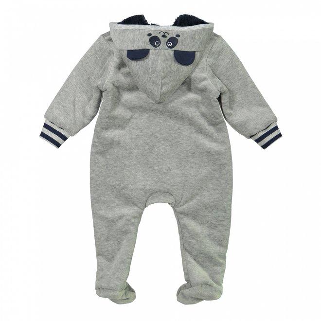 Dirkje Jungen Baby Outdoor-Anzug mit Kapuze hellgrau