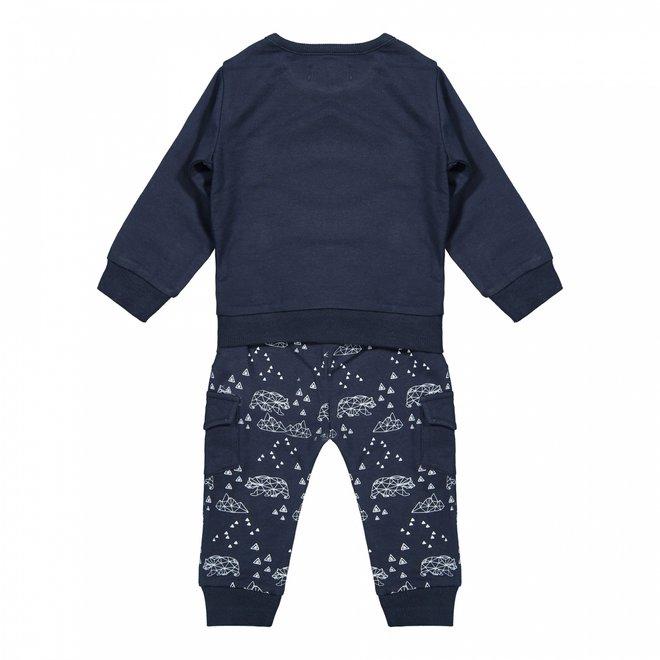 Dirkje jongens baby setje trui en broek donkerblauw beren