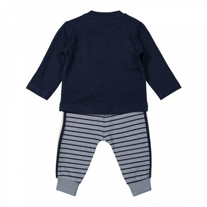 Dirkje boys baby set shirt and trousers blue