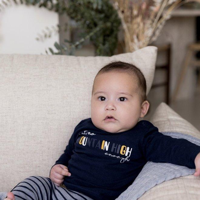 Dirkje Jungen Baby Shirt und Hose Set blau