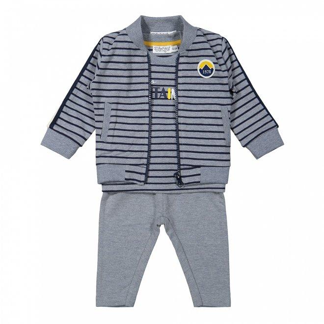 Dirkje Jungen Baby Set Jacke Shirt Hose Jeans blau