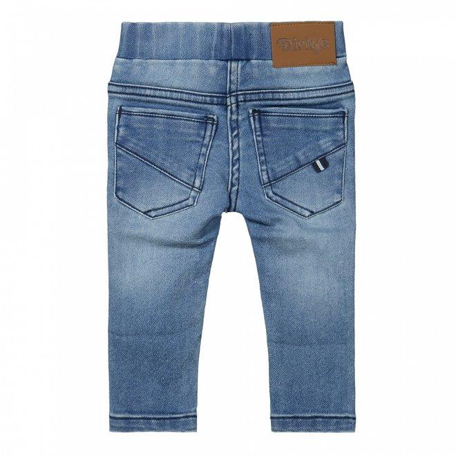Dirkje jongens knitted jeans blauw