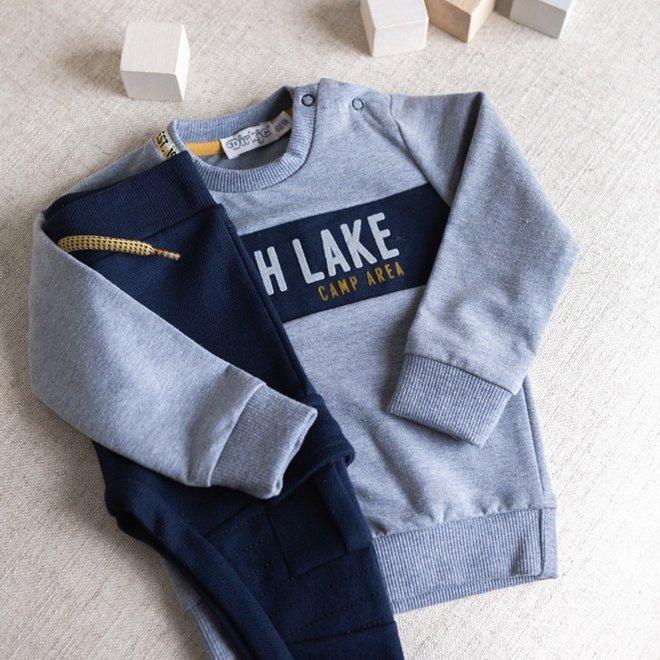 Dirkje jongens trui jeansblauw