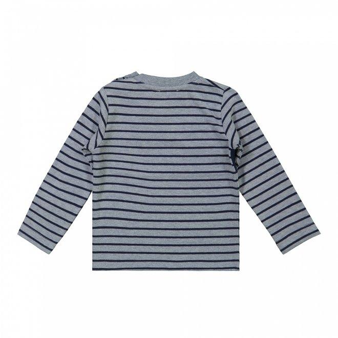 Dirkje boys shirt jeans blue stripes