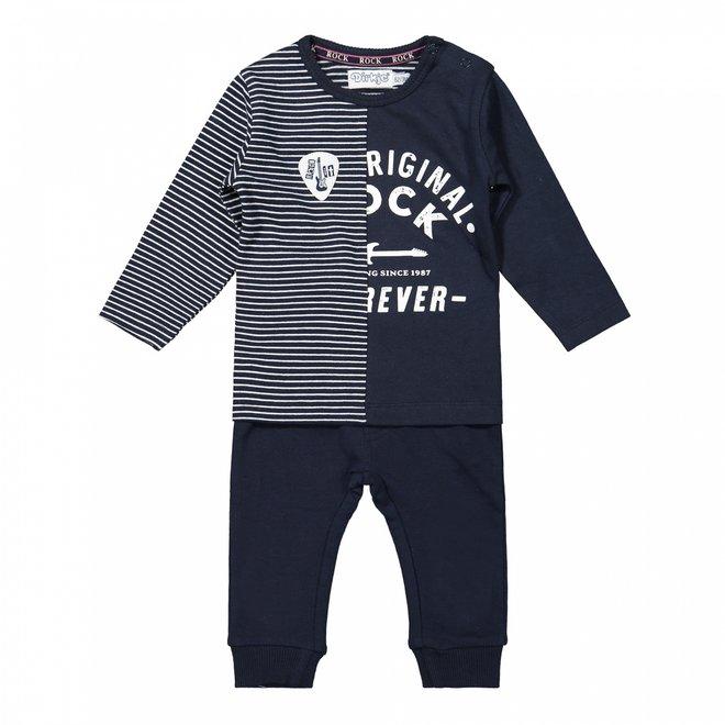 Dirkje Jungen Baby Set Shirt und Hose dunkelblau
