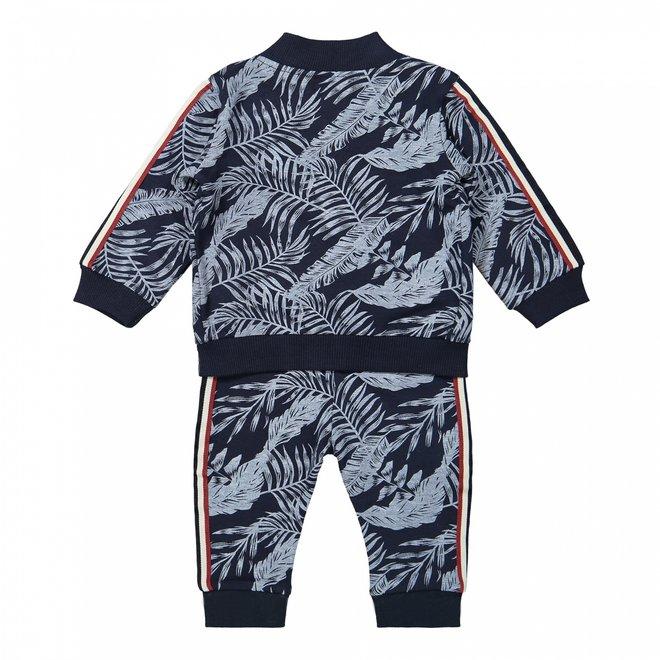 Dirkje boys baby set jacket shirt and trousers blue hawaii