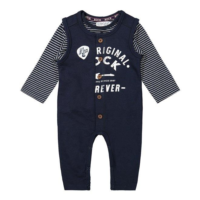 Dirkje boys baby set shirt and playsuit dark blue