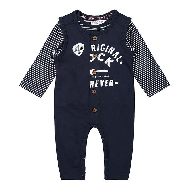 Dirkje jongens baby set shirt en boxpakje donkerblauw