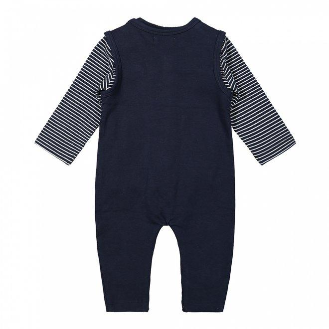 Dirkje Jungen Baby Set Shirt und Playsuit dunkelblau