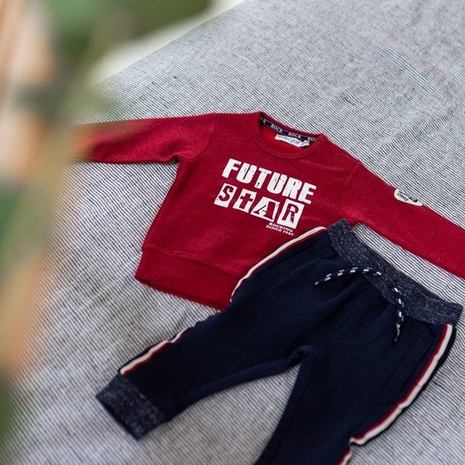 Dirkje jongens trui rood