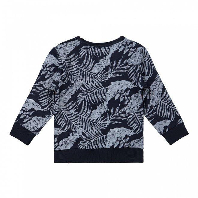 Dirkje jongens trui donkerblauw hawaii