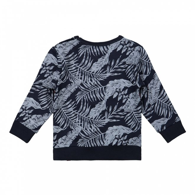 Dirkje Jungen Pullover dunkelblau hawaii