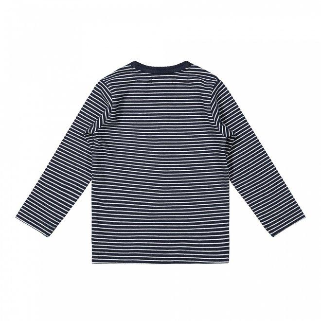 Dirkje boys shirt dark blue stripes