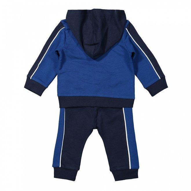 Dirkje Jungen Baby Set Strickjacke Shirt Hose Kobalt dunkelblau