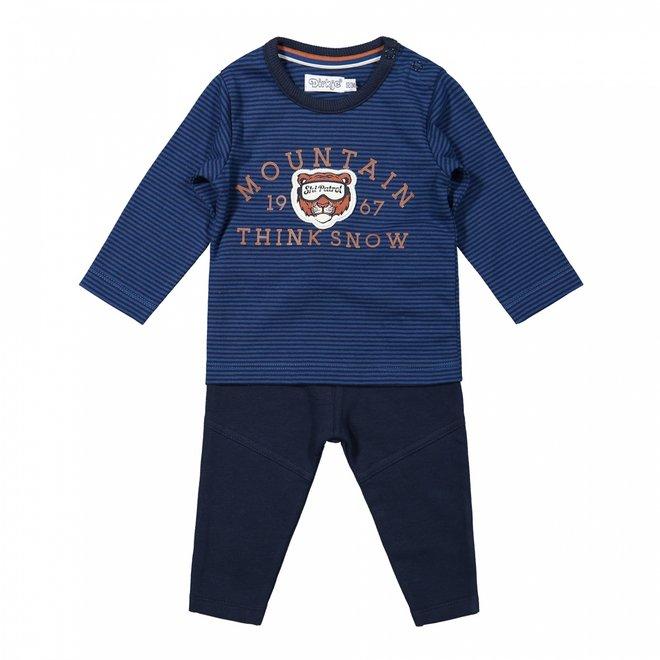 Dirkje Jungen Baby Shirt und Hose Set kobaltblau