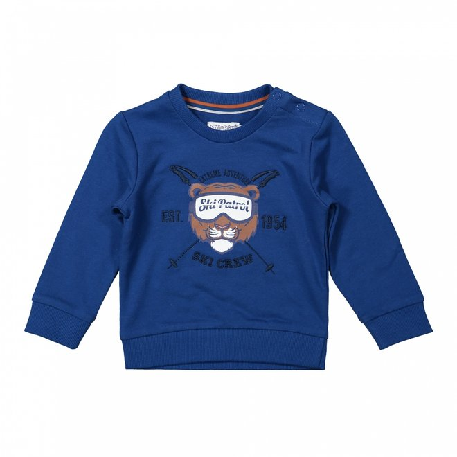 Dirkje boys jumper cobalt blue tiger ski