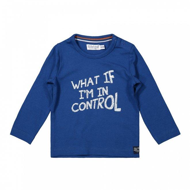 Dirkje boys shirt cobalt blue