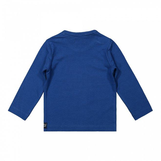 Dirkje jongens shirt kobalt blauw